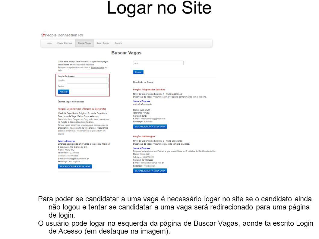 Logar no Site