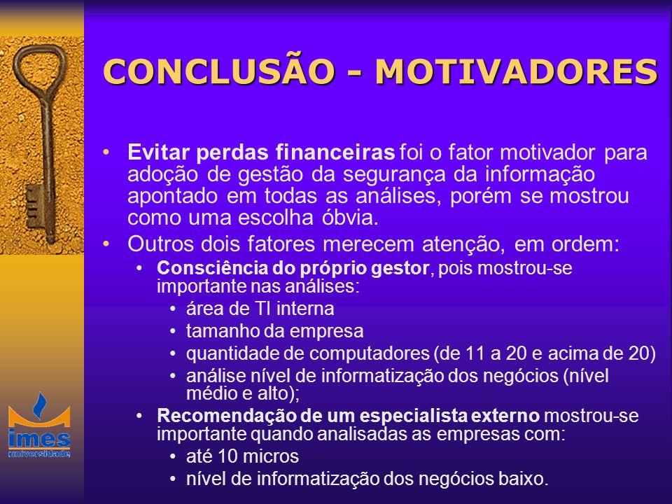 CONCLUSÃO - MOTIVADORES