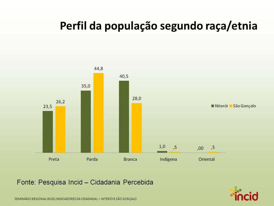 Perfil da população segundo raça/etnia