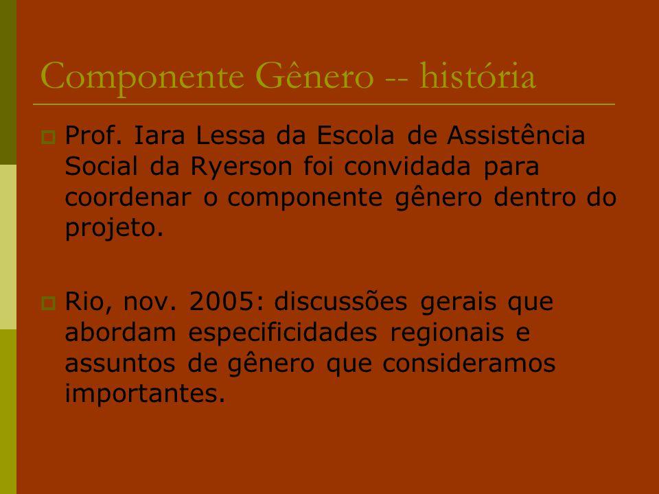 Componente Gênero -- história