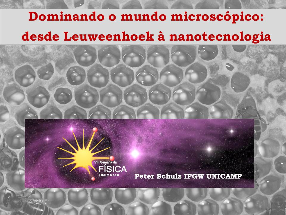 Dominando o mundo microscópico: desde Leuweenhoek à nanotecnologia