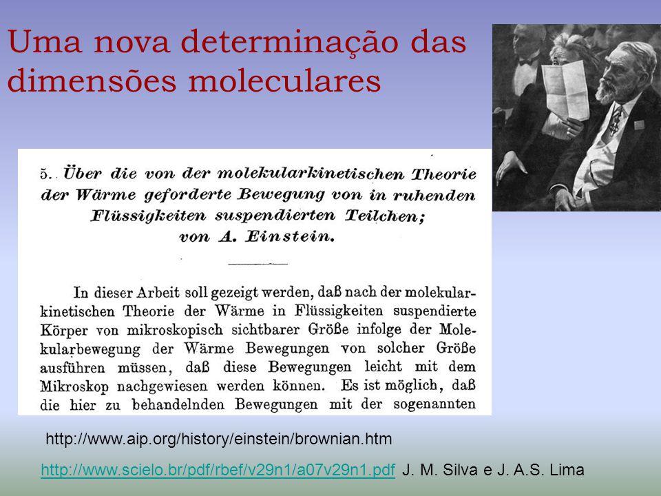 Uma nova determinação das dimensões moleculares