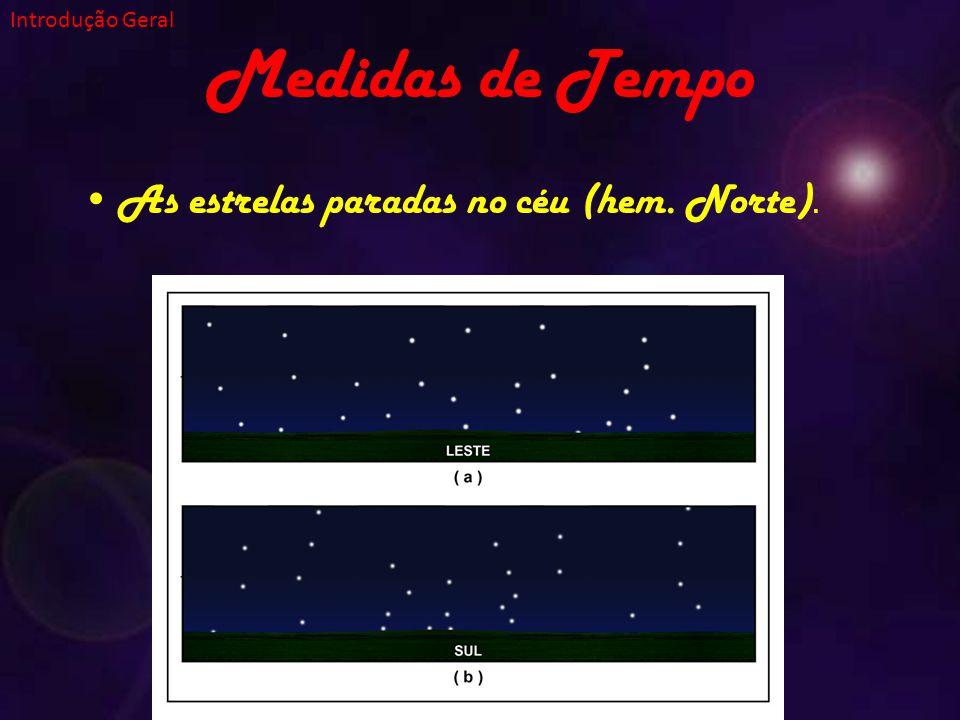 Medidas de Tempo As estrelas paradas no céu (hem. Norte).