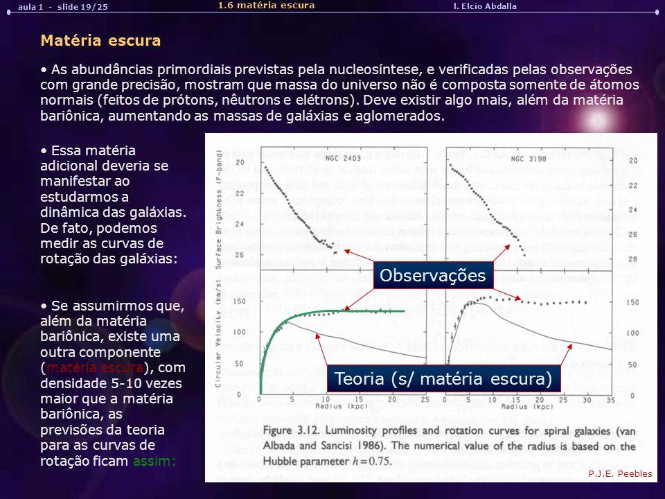 Teoria (s/ matéria escura)