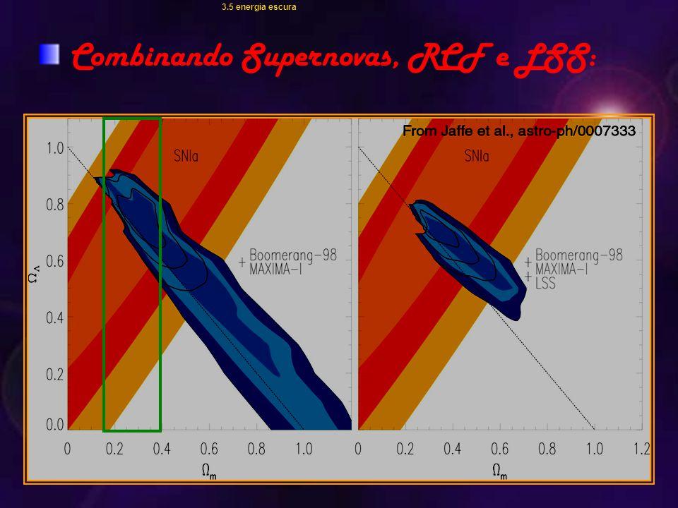 Combinando Supernovas, RCF e LSS:
