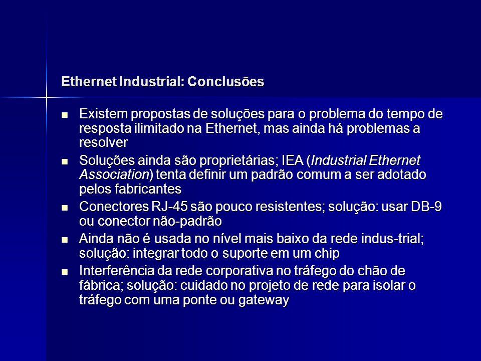 Ethernet Industrial: Conclusões