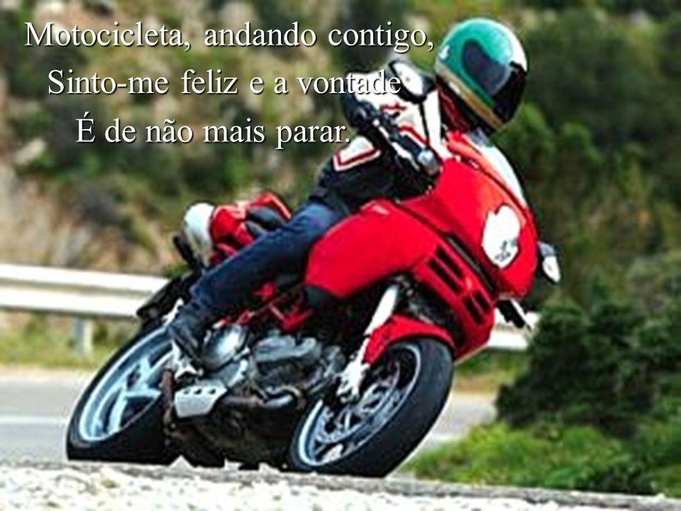 Motocicleta, andando contigo,
