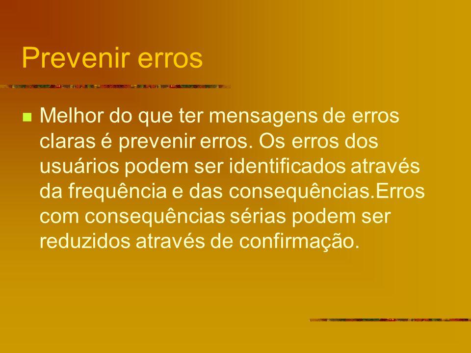 Prevenir erros
