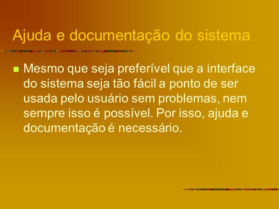 Ajuda e documentação do sistema