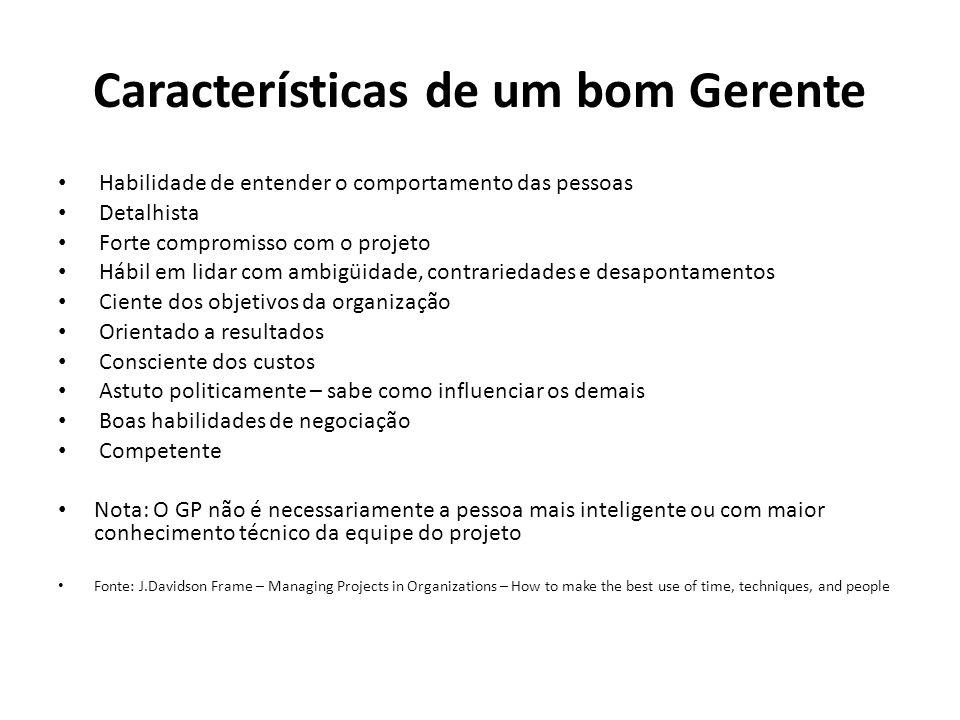 Características de um bom Gerente