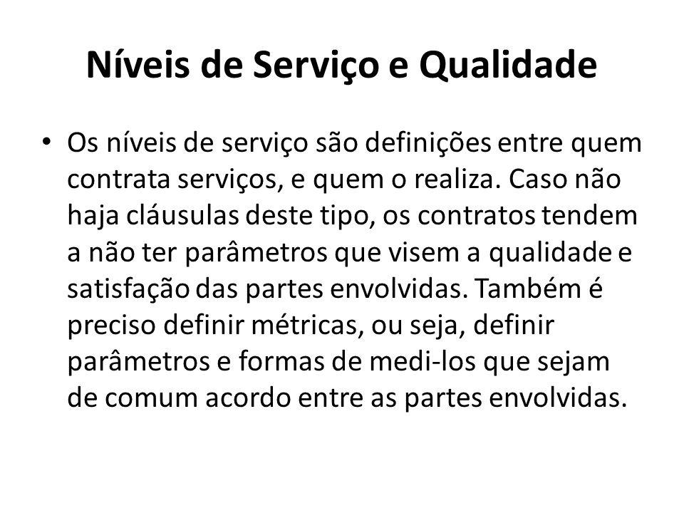 Níveis de Serviço e Qualidade