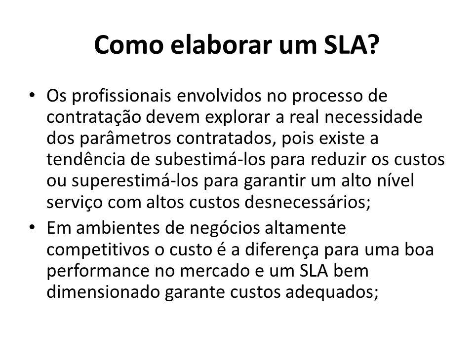 Como elaborar um SLA