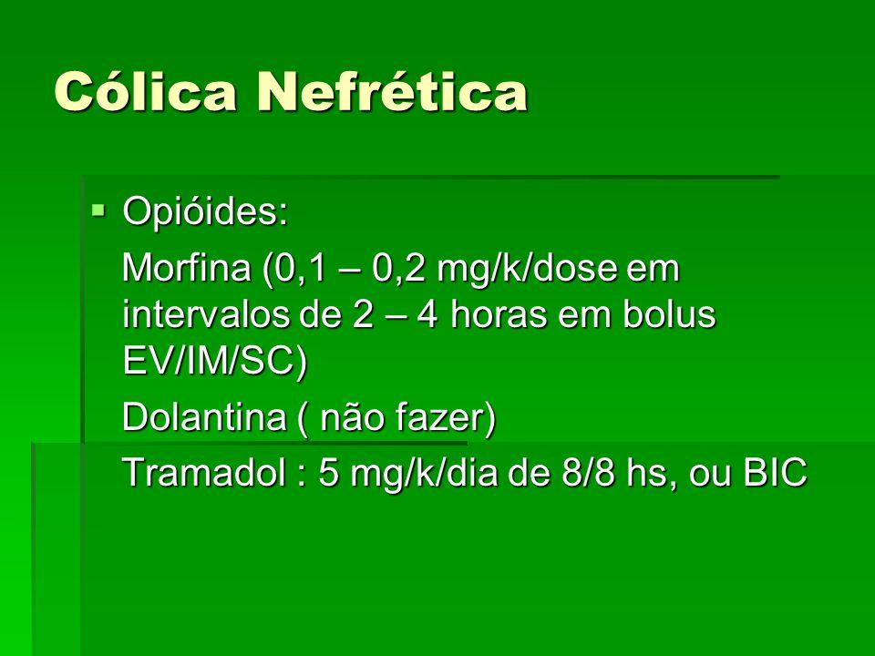 Cólica Nefrética Opióides: