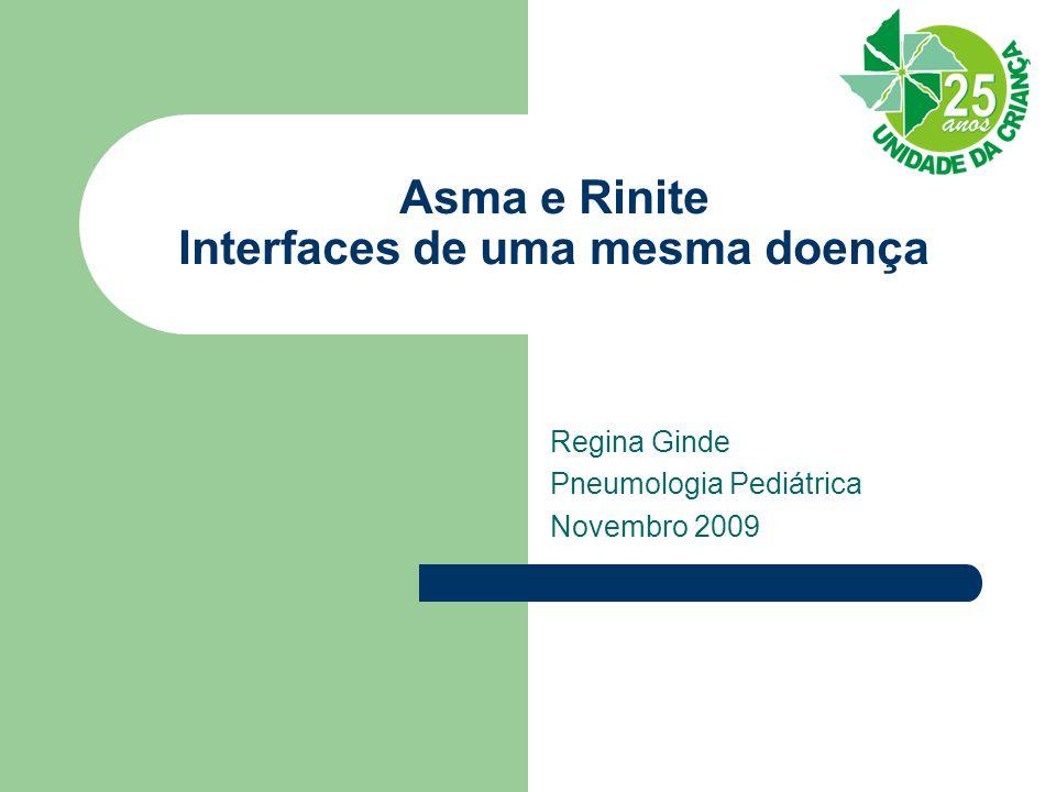 Asma e Rinite Interfaces de uma mesma doença