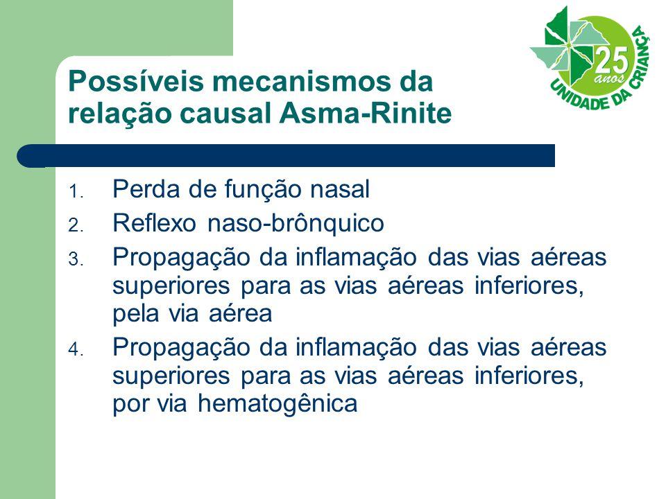 Possíveis mecanismos da relação causal Asma-Rinite