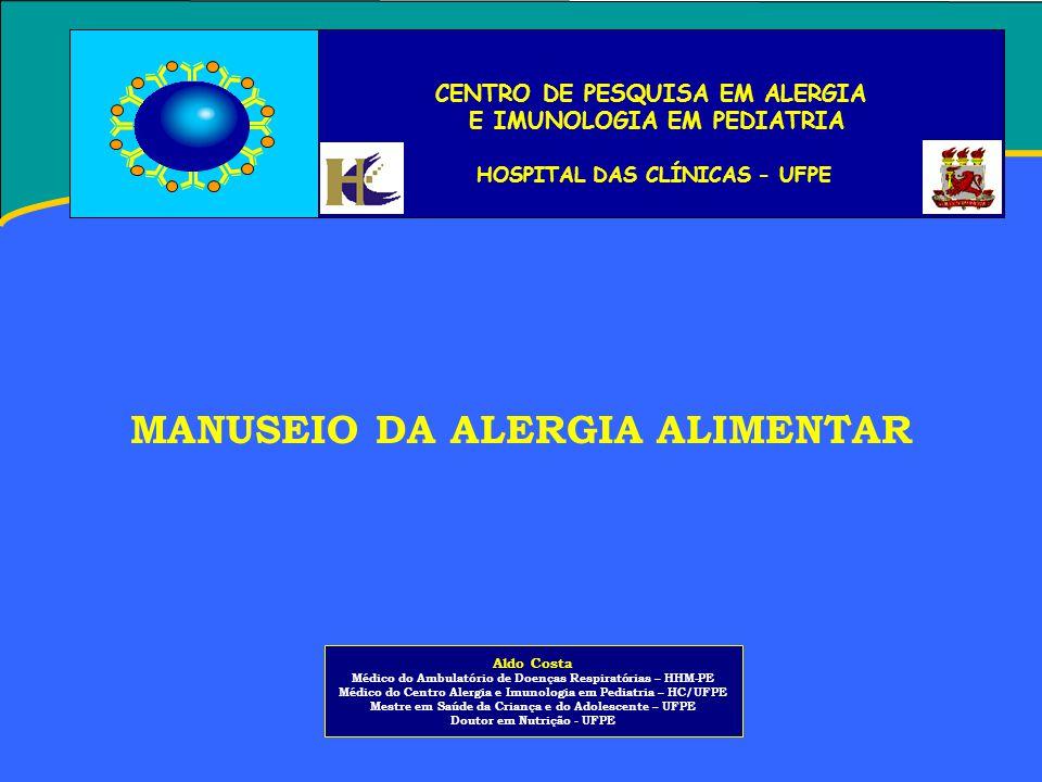 MANUSEIO DA ALERGIA ALIMENTAR