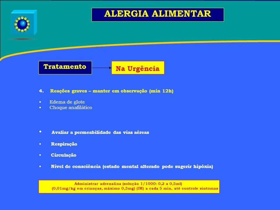 Administrar adrenalina (solução 1/1000: 0,2 a 0,5ml)