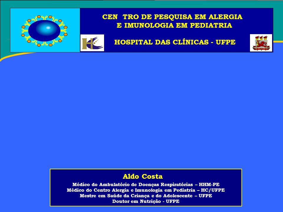 CEN TRO DE PESQUISA EM ALERGIA E IMUNOLOGIA EM PEDIATRIA