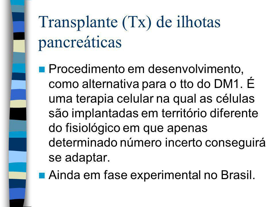 Transplante (Tx) de ilhotas pancreáticas