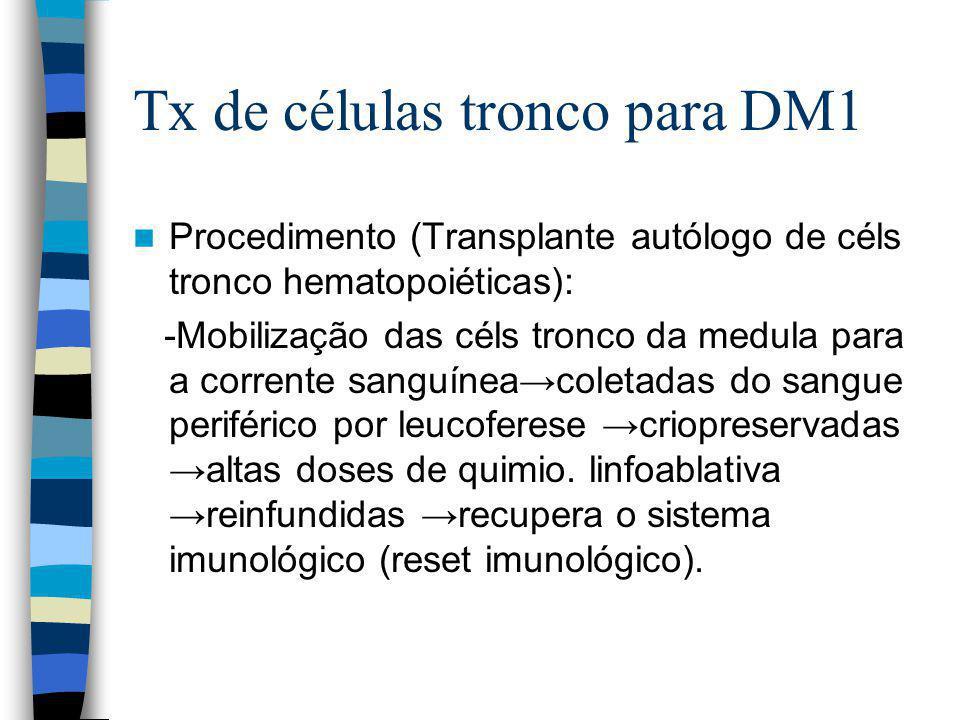 Tx de células tronco para DM1