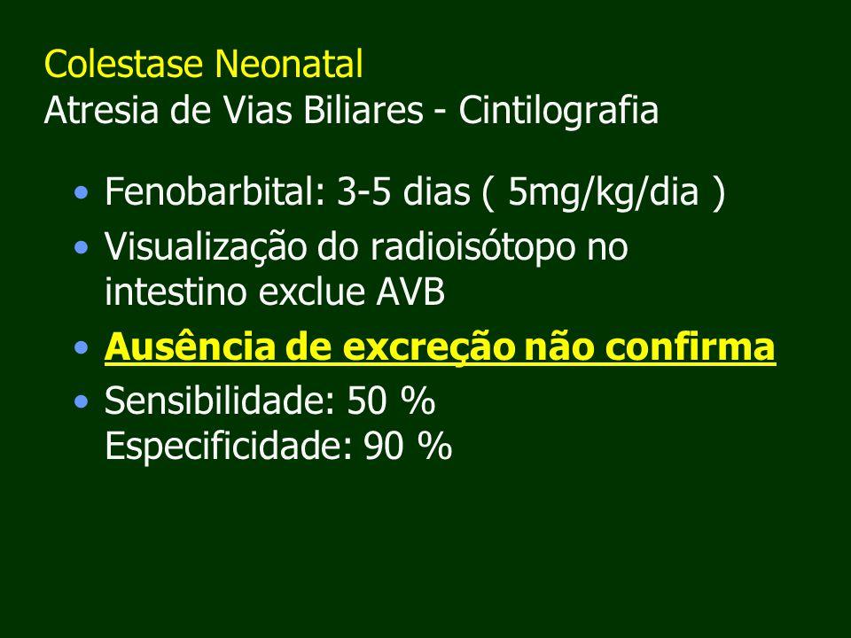 Colestase Neonatal Atresia de Vias Biliares - Cintilografia