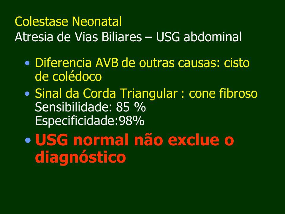 Colestase Neonatal Atresia de Vias Biliares – USG abdominal