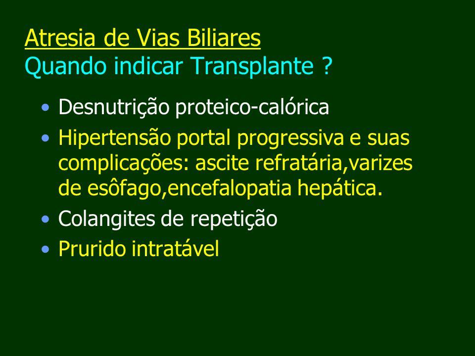 Atresia de Vias Biliares Quando indicar Transplante