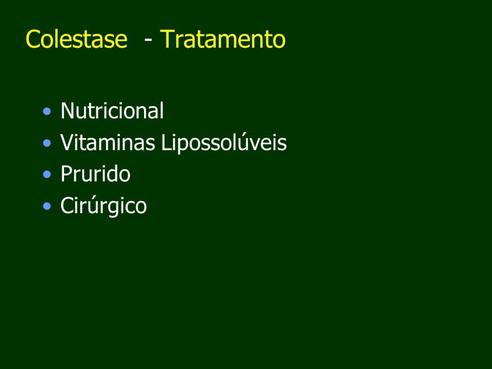Colestase - Tratamento