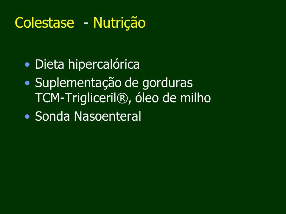 Colestase - Nutrição Dieta hipercalórica