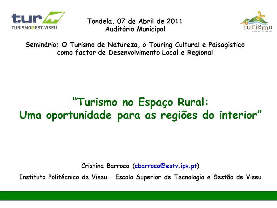 Turismo no Espaço Rural: