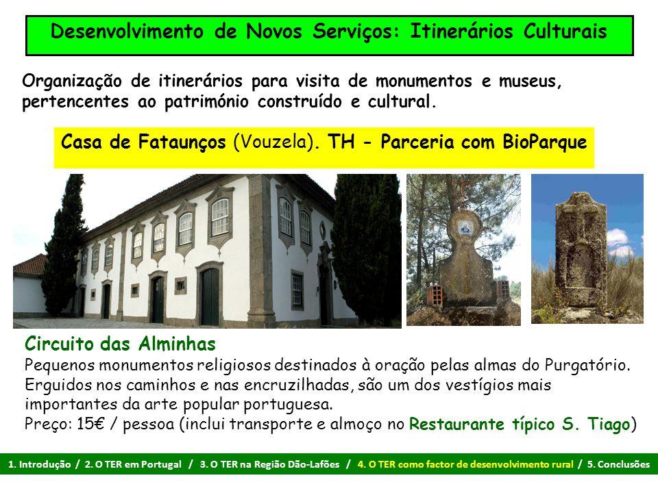 Desenvolvimento de Novos Serviços: Itinerários Culturais