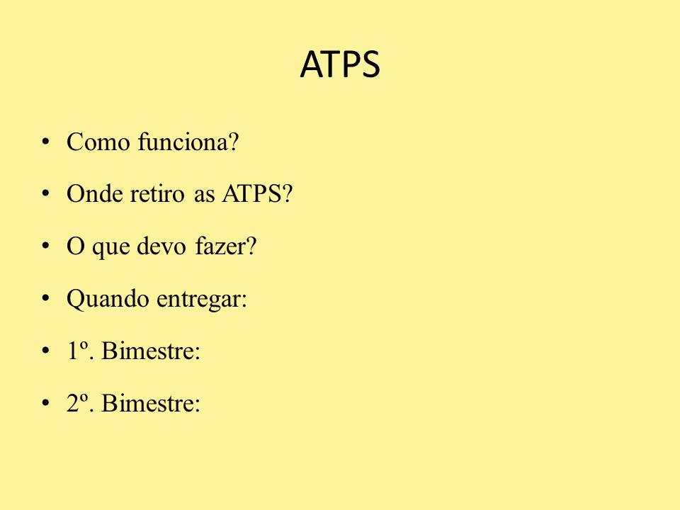 ATPS Como funciona Onde retiro as ATPS O que devo fazer