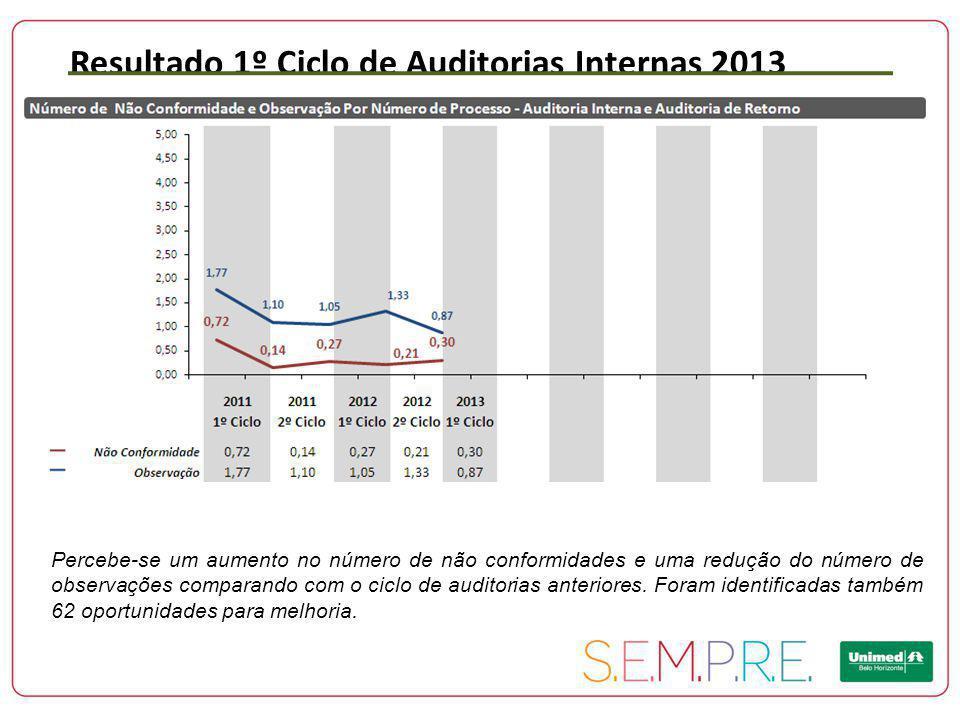 Resultado 1º Ciclo de Auditorias Internas 2013