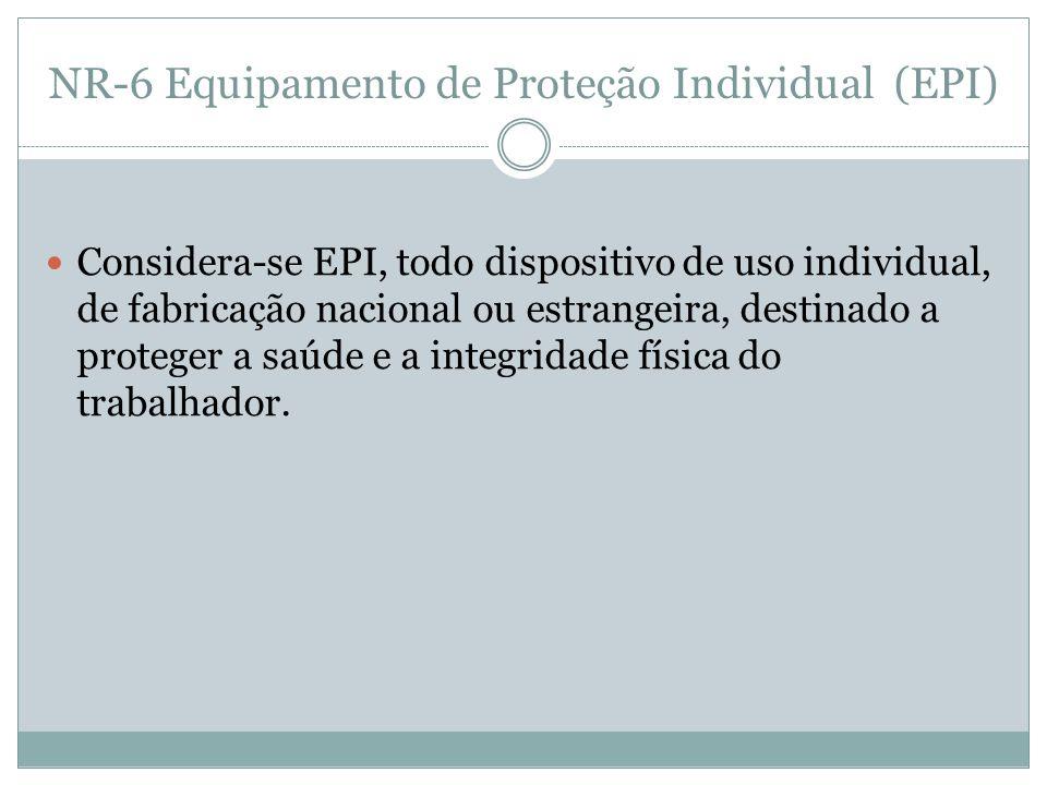NR-6 Equipamento de Proteção Individual (EPI)
