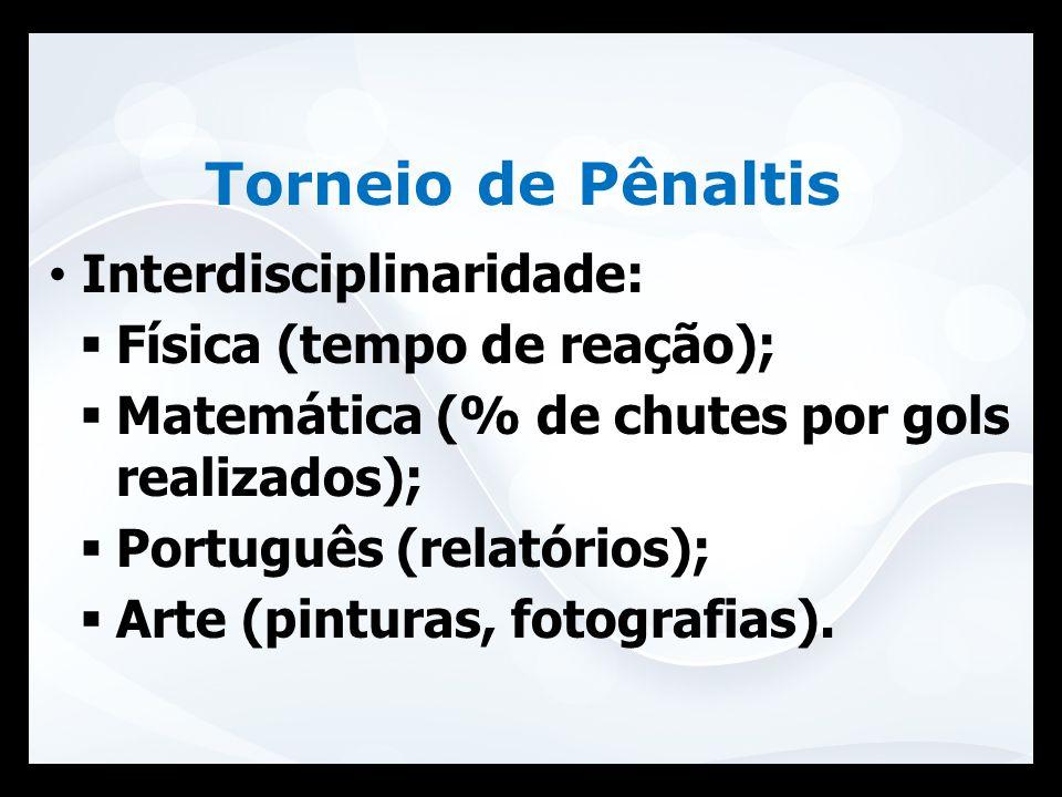 Torneio de Pênaltis Interdisciplinaridade: Física (tempo de reação);