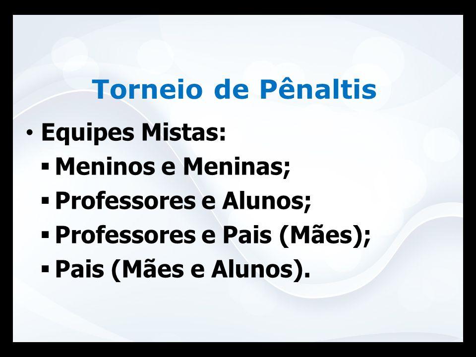 Torneio de Pênaltis Equipes Mistas: Meninos e Meninas;