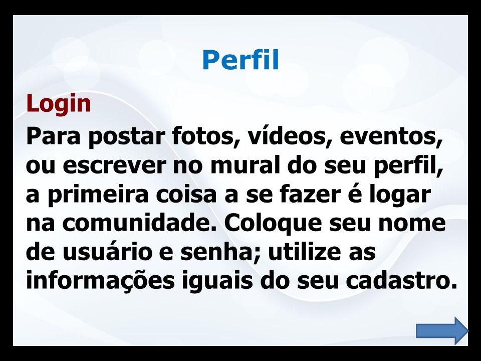 Perfil Login.