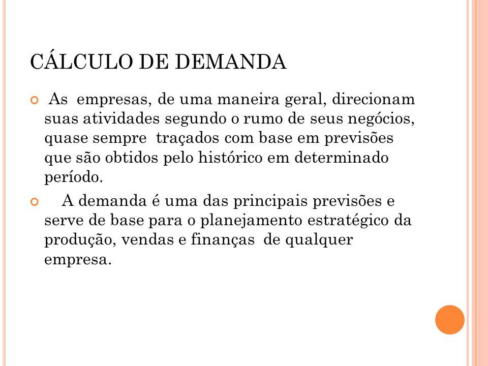 CÁLCULO DE DEMANDA