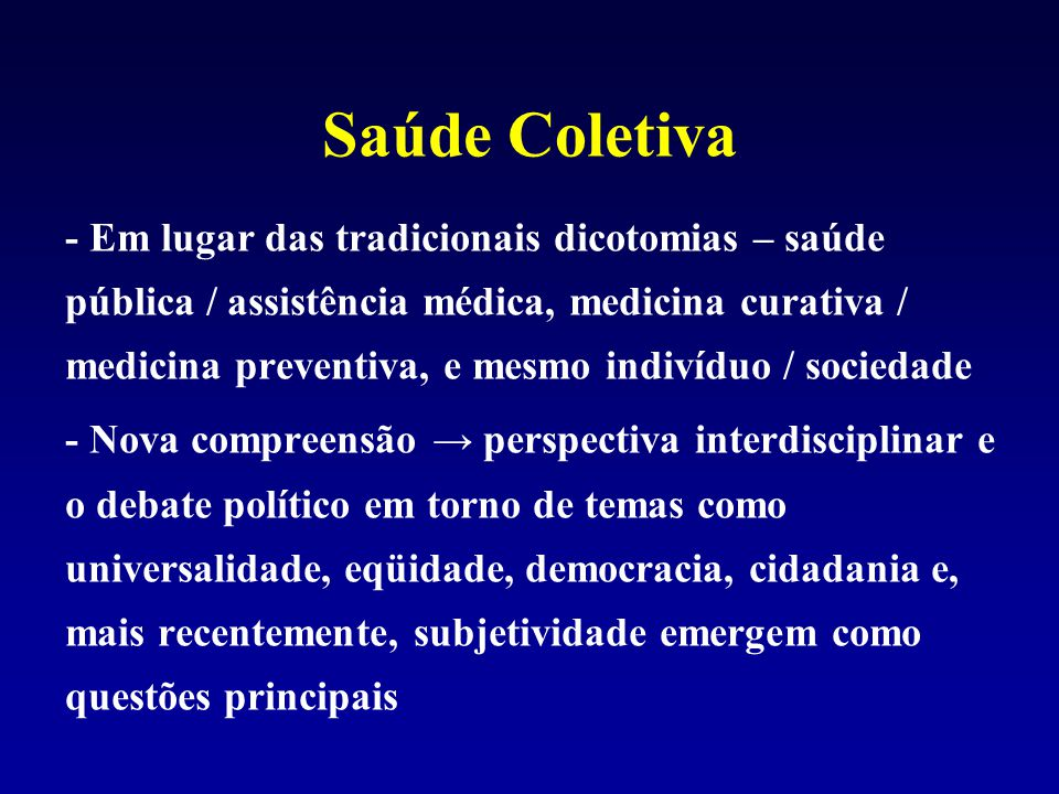 Saúde Coletiva
