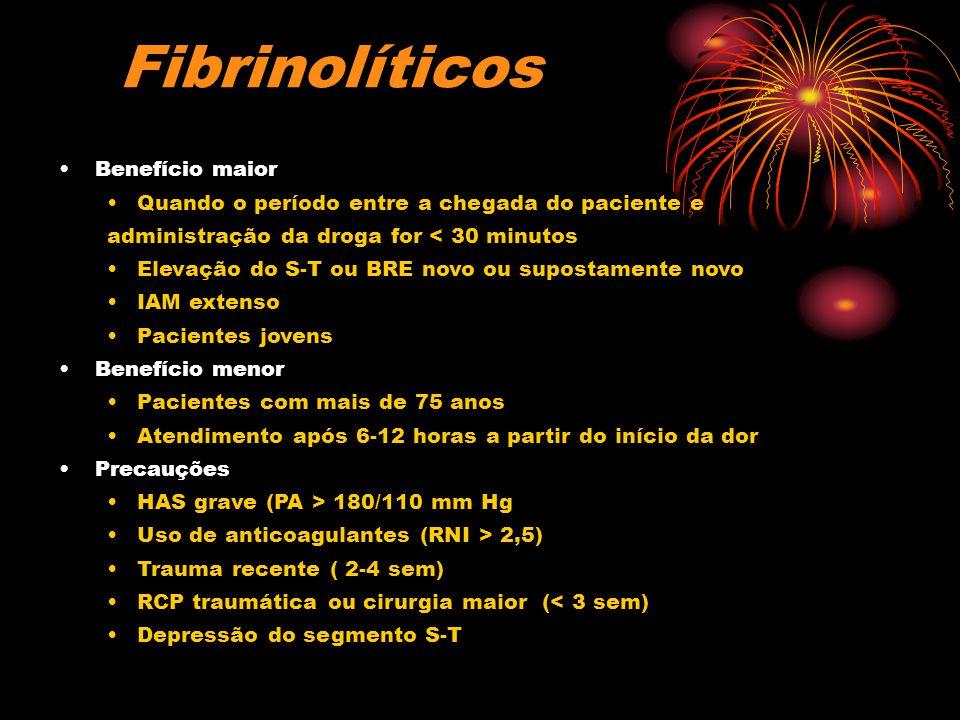 Fibrinolíticos Benefício maior
