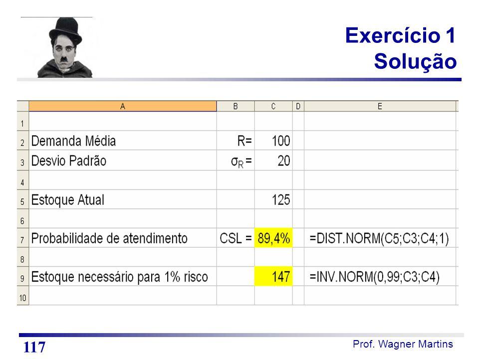 Exercício 1 Solução Notas de Aula Resposta do teste 1. 117 117