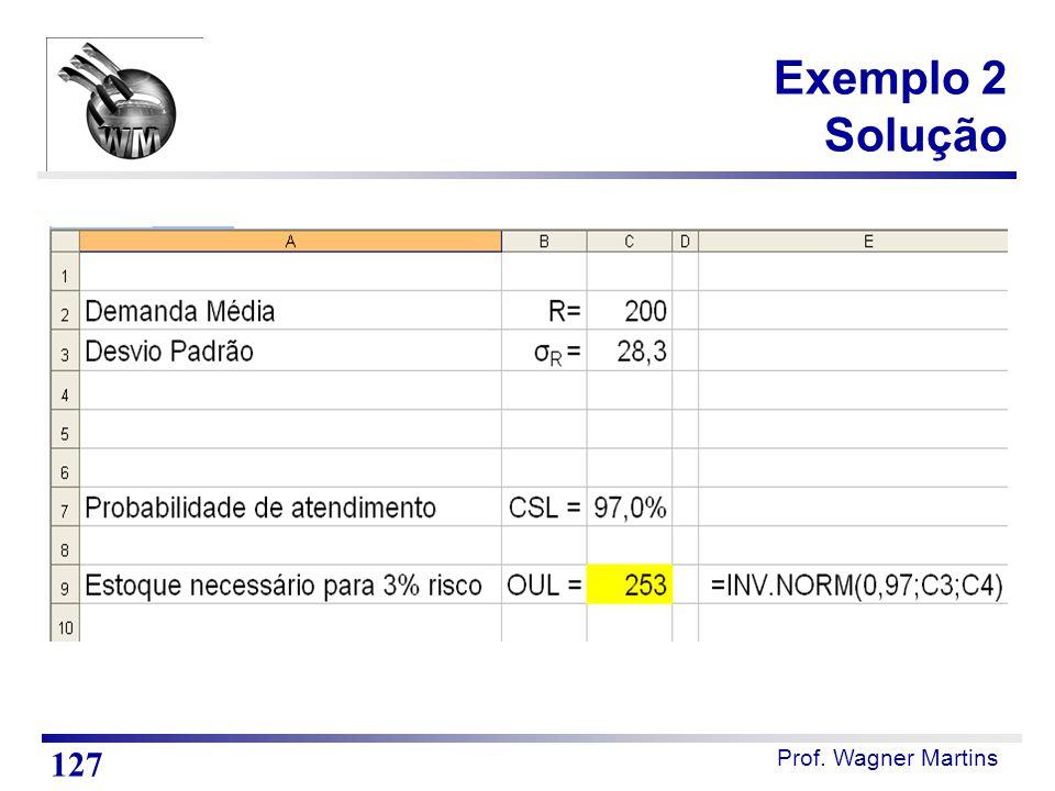 Exemplo 2 Solução 127 Notas de Aula Resultados do exemplo 2 no Excel.