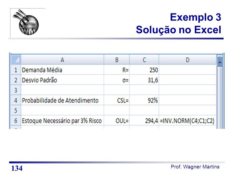 Exemplo 3 Solução no Excel