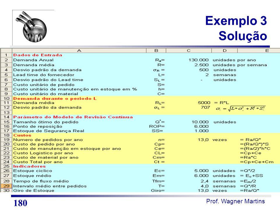 Exemplo 3 Solução Notas de Aula Resposta do exercício 1. 180 180