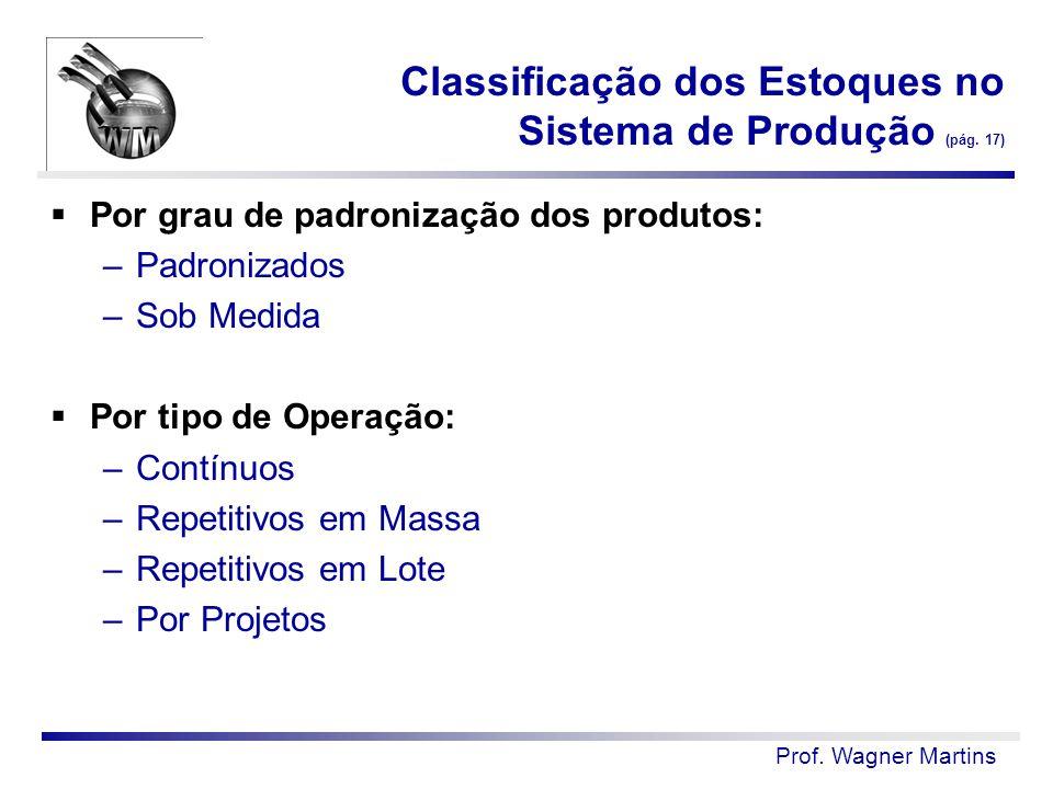Classificação dos Estoques no Sistema de Produção (pág. 17)