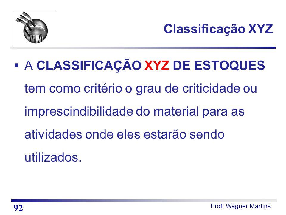 Classificação XYZ