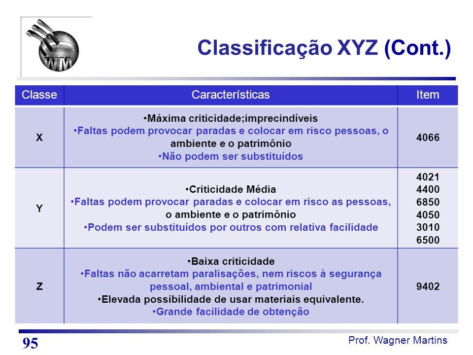 Classificação XYZ (Cont.)