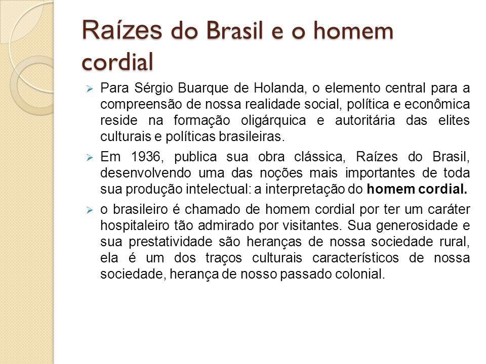 Raízes do Brasil e o homem cordial