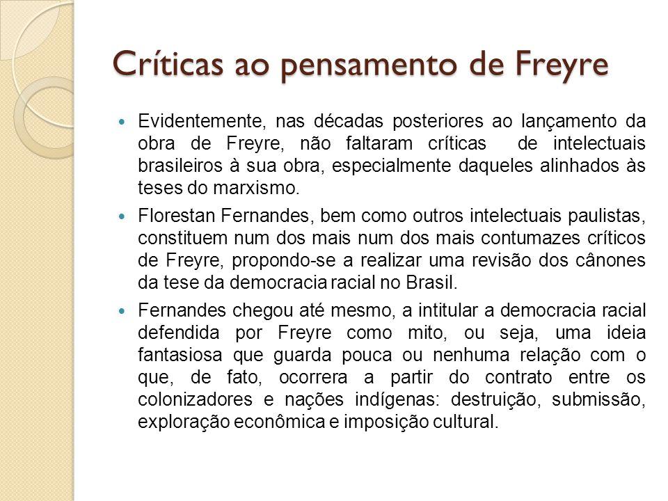 Críticas ao pensamento de Freyre
