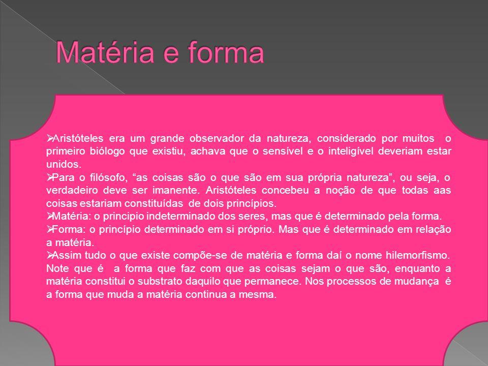 Matéria e forma